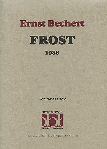 Frost (1988). Partituras para Contrabajo