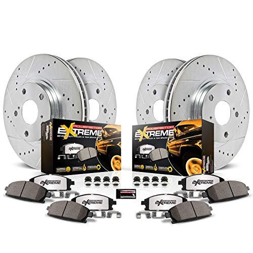 05 escalade drilled rotors gold - 4