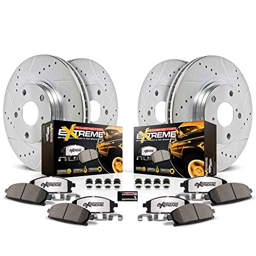 Power Stop K5468-36 Z36 Truck & Tow Front and Rear Brake Kit