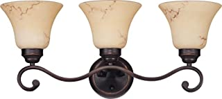 Nuvo 60/1414 Three Light Vanity with Honey Marble Glass, Copper Espresso