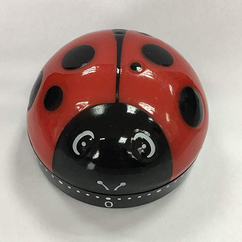 Small 60 Minutes Cooking Ladybug Timers Mechanical Kitchen Cute Timers Egg Timer For Kids