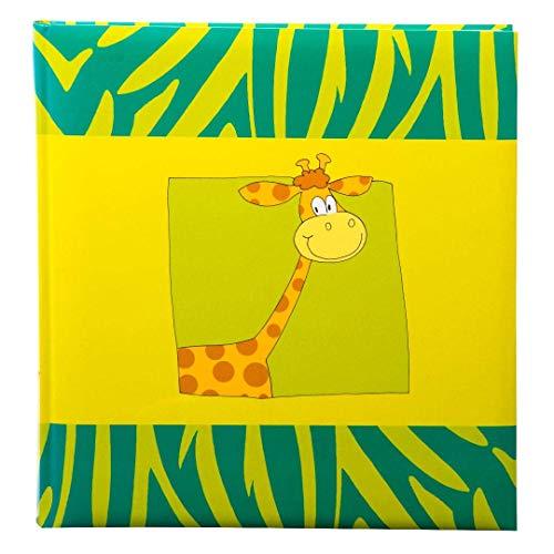goldbuch Kinderalbum, Safari giraffe, 30 x 31 cm, 60 weiße Seiten mit Pergamin-Trennblättern, Kunstdruck laminiert, grün/gelb, 27037