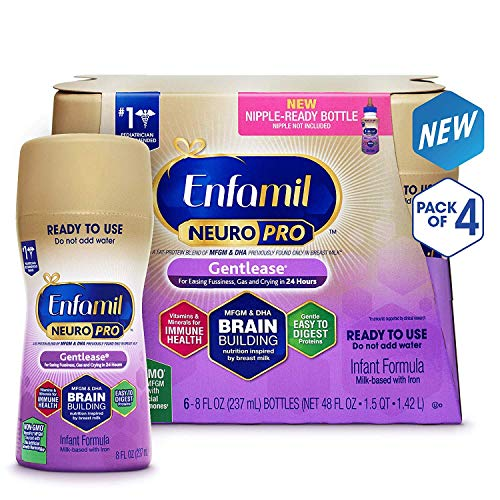Enfamil Gentlease NeuroPro Baby Formula, 24 Ready-to-Use 8 fl oz Bottles