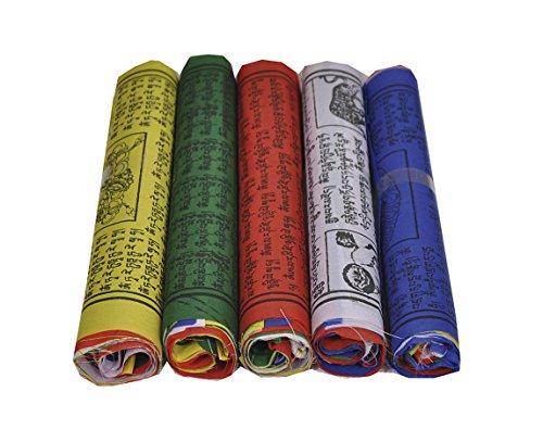 Dharma Store -Tibetan Buddhist Prayer Flags 6.5 Inch - Made by Tibetan Refugees - Pack of 50