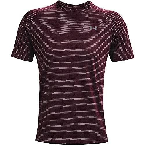 Under Armour Men\'s Tech 2.0 5C Short Sleeve T-Shirt , Dark Maroon (600)/Pitch Gray, XX-Large