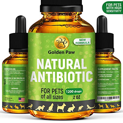 Natural Antibiotíс for Dogs - Immune System Booster for Dogs - Kennel Cough Remedy for Pets - UTI Treatment - Allergy Immune Supplement for Pets - Antibiotícs Alternative for Cats (2 oz)