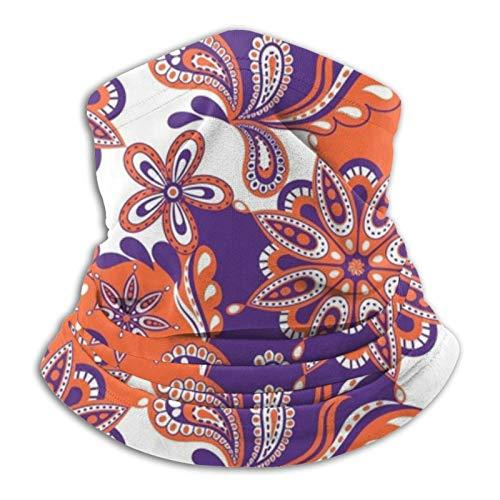 Hustor - Pasamontañas de color naranja y morado con diseño de mandala, diseño ma-sk