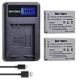 Batmax 2Pcs 1400mAh NB-5L NB5L Battery + LCD...