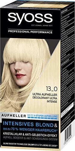 Syoss Blond Stufe 3 Blond 13_0 Ultra Aufheller, bis zu 9 Stufen Aufhellung, 3er Pack(3 x 135 ml)