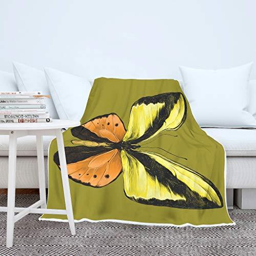 Dofeely Butterfly Animal deken, woon- en van fluweelzachte pluche sprei, microvezel vele kleuren reuzedoek voor volwassenen en kinderen