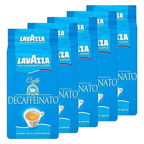 Lavazza DEK Kaffee, Decaffeinato, gemahlener Bohnenkaffee (5x 250g)