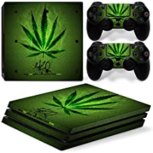 GoldenDeal PS4 Pro Console and DualShock 4 Controller Skin Set - Weed 420 - PlayStation 4 Pro Vinyl