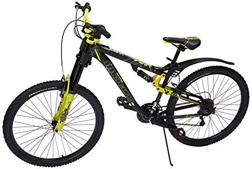 Mercurio 300337 Bicicleta Kaiser DH Rodada 26 con Doble Suspensión, Tamaño Grande, color Negro/Amarillo