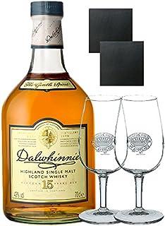 Dalwhinnie 15 Jahre Whisky 0,7 Liter  2 Classic Malt Whiskygläser  2 Schieferuntersetzer