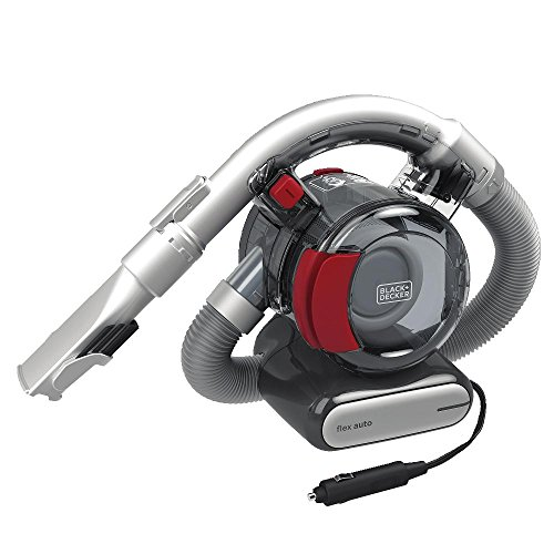 BLACK+DECKER Flex Car Vacuum, 12V Corded (BDH1200FVAV), Iron/Red