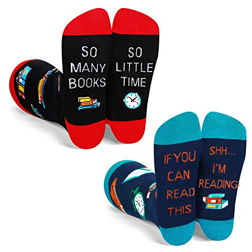 Funny Saying If You Can Read This Reading Socks-Novelty Book Reading Nerd Librarian Bookworm Gift...