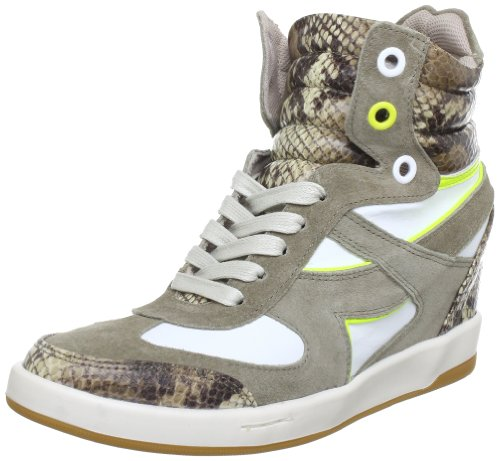 Blink 43802-AE700, Boots femme - Multicolore (Taup/L.Taup/White/Yel 700), 37 EU