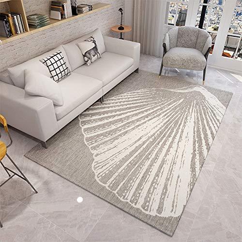 WuCHONGDITAN tapijt, woonkamertapijt, slaapkamertapijt, opdruk, schelp, groot zwembad, antislip, comfortabel, zacht, duurzaam, voor nachtkastje, decoratiehotel 200×300cm(6.56×9.84 ft)