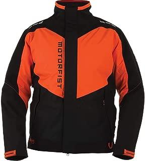 Motorfist Men's Clutch Jacket (Black/Orange Small