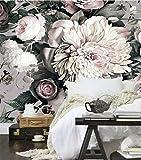 Hintergrundanpassung 3D Elegante Fototapete Pfingstrose Blumen Tapete Benutzerdefinierte Wandbild Kunst Raumdekor Kinder Mädchen Schlafzimmer Tv Hintergrund Arbeitszimmer-450X300cm
