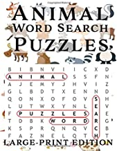 Animal Word Search Puzzles: Large-Print Edition