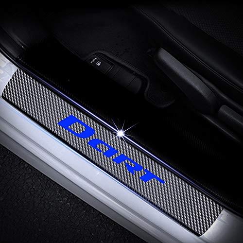 SENYAZON Dart Sticker Door Threshold Plate Door Entry Guard for Dodge Dart Car Accessories (Blue)
