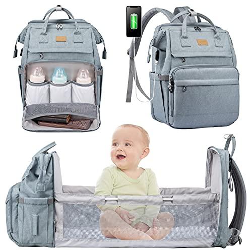LOVEVOOK Mochilas de Pañales para Bebé Mochila Pañales Maternal Bolso Carro Bebé Mochila Carrito Bebe Impermeable