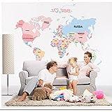 KIIC Carta Mapa del mundo para niños Calcomanías de...