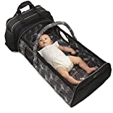 Laluka Travel Bassinets for Babies - Portable Bassinet Baby | Diaper Bag Backpack Baby Bag Crib Combo | Insulated Bottle Changing Station | Co Sleeper Foldable Portable Baby Bed | Moises para Bebes