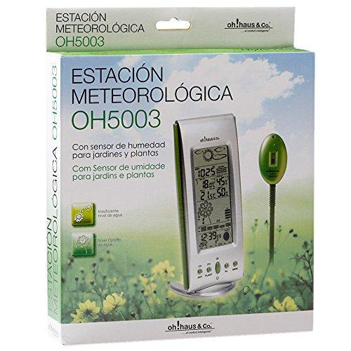 OH5003 Estación Meteorológica con Sensor de Temperatura Interior/Exterior y Sensor de Humedad del Jardin: Amazon.es: Jardín