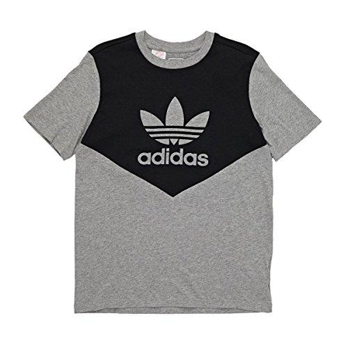 adidas J Graphic tee Camiseta, niños, Gris (Brgrin/Negro), 140