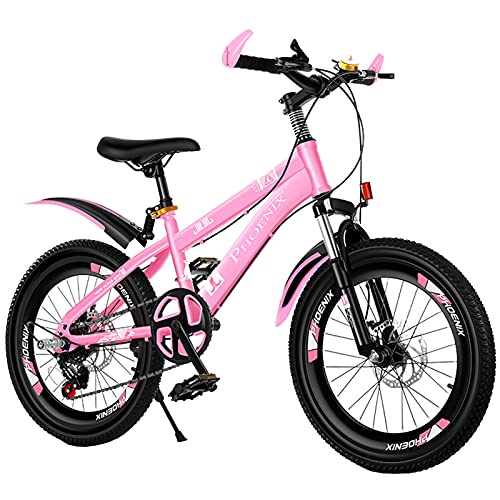 Axdwfd Kids Bike 18-20 Inch Mountain Bike, Children's Bike, With Pedals, Brakes, 3 Colors Bicycle(Size:20in,Color:Pink)
