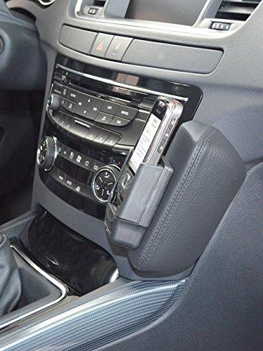 Kuda Telefonkonsole für Peugeot 508 ab 03/11, Kunstleder, Schwarz