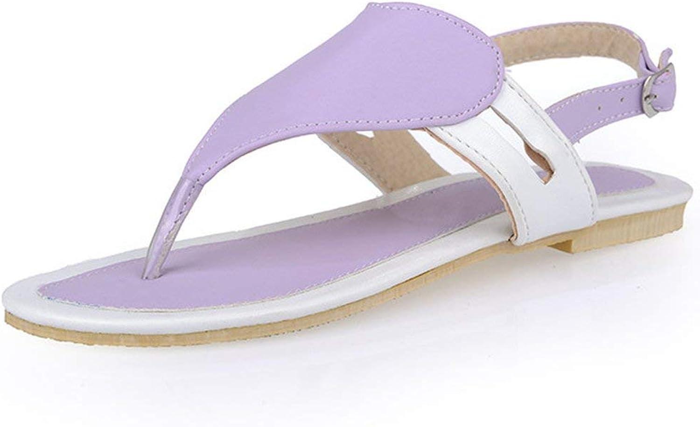 Gcanwea Women's Trendy Heart Pattern Buckled Slingback Flat Thong Sandals Summer Breathable Comfortable Sweet Pu Leather Elegant Belt-Buckles Girls Lightweight Rubber Sole bluee 11 M US Sandals