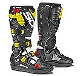 Sidi Sidi Crossfire 3 SRS Motorcycle Boot, White/Black/Yellow Fluo, Size 42