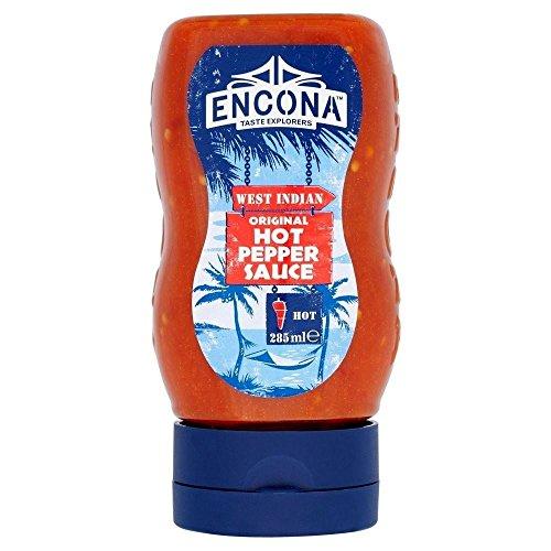 Encona Original Hot Pepper Sauce (285ml) - Packung mit 6
