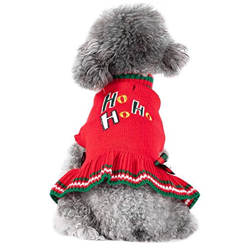 kyeese 犬服 冬 セーター 秋冬 ドッグウェア ニット 犬の服 防寒着 暖かい 可愛い おしゃれ チワワ服 トイプードル服 女の子 ペット洋服 暖かい