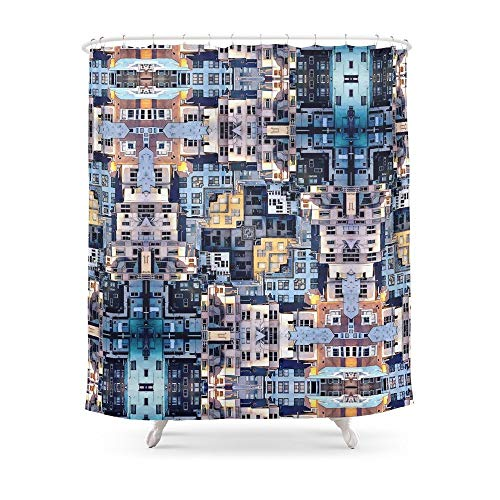 QAQ sterrenhemel douchegordijn kleine douchecabine badkamer gordijn waterdicht polyester stof