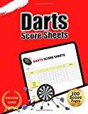 Darts score sheets: Large print 8.5' x 11'  inches 100 score pages dart game score keeper, Darts game Record Score Keeper Book, Darts score pads, ... Darts refill cards,score keeper darts,Gifts.
