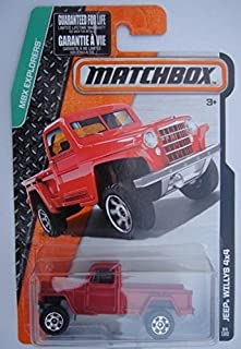 MATCHBOX MBX EXPLORERS RED JEEP WILLYS 4X4 84/120 by Matchbox