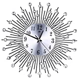 MeterMall Home Decor Gifts European Style Iron Wall Hanging Pointer+Digital Clock Home Decor for Living Room Black