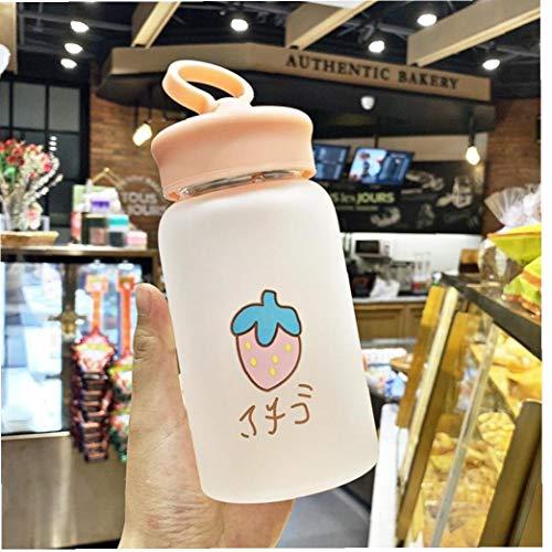 Botella Fruta De Kawaii del Vidrio Esmerilado De Agua Portátil Creativa Linda del Teléfono Móvil Soporte De Estilo Azar Copa
