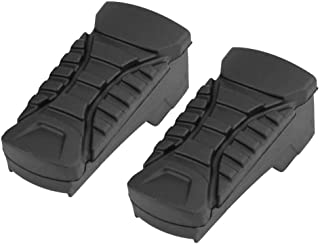 Ejoyous 2Pcs Motorbike Rubber Nonslip Rear Footpegs Plate Footrest Pedal Foot Peg Cover Set for BMW R1200GS R1200GS ADV 2014-2017