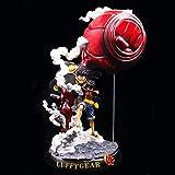 WISHVYQ Un Pies Monkey D. Luffy Big Fist Dos Loop Fly Cuarto Engranaje Paisaje Cumpleaños Regalo GK...