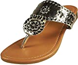 Pierre Dumas Women's Rosetta-1 Slip-on Sandals (7, Gold)
