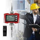 TTLIFE Escala de grúa 1000 kg / 2000 libras Balanza colgante industrial digital de alta resistencia Báscula de grúa electrónica inteligente de alta precisión (rojo)