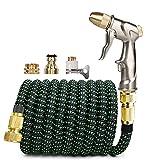 Garden Hoses, Flexible Garden Hose Garden Water Hose with Spray Gun Set Expandable High Pressure Car Wash Pipe Magic Hose Irrigation Garden Hose (Color : Green Dot Hose Set, Diameter : 1/2'')