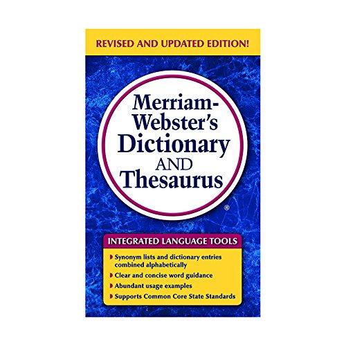 MERRIAM WEBSTERS DICTIONARY & THESAURUS
