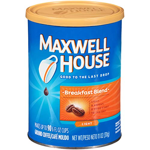 Maxwell House Breakfast Blend Ground Coffee (11 oz Canister)