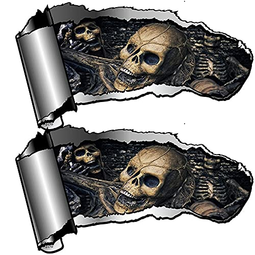 LILI0085 2 Piezas Evil Gótico Pegatina de Coche Accesorios Accesorios de estilismo de Coche PVC Impermeable 13 cm x 7 cm (Size : 38cm x 21cm)
